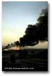 Burning landfill site, Gaborone