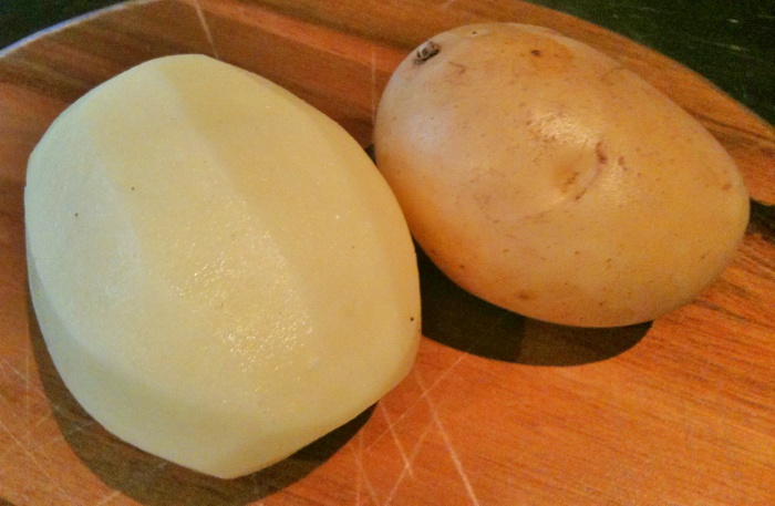 Post revisited – Peeled potatoes